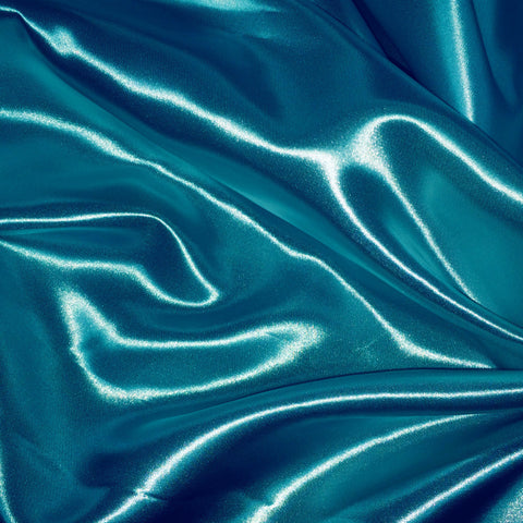 Luster Satin Fabric 27  Turquoise - NY Fashion Center Fabrics