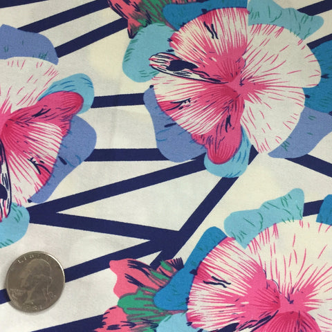 Cotton Floral Stretch Fabric CFS 7 - NY Fashion Center Fabrics