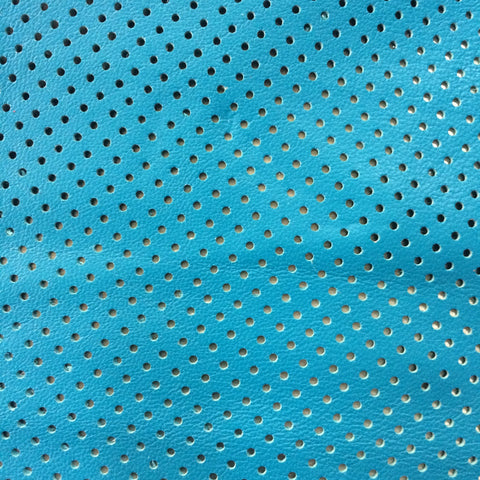 Perforated Lamb Leather Turquoise