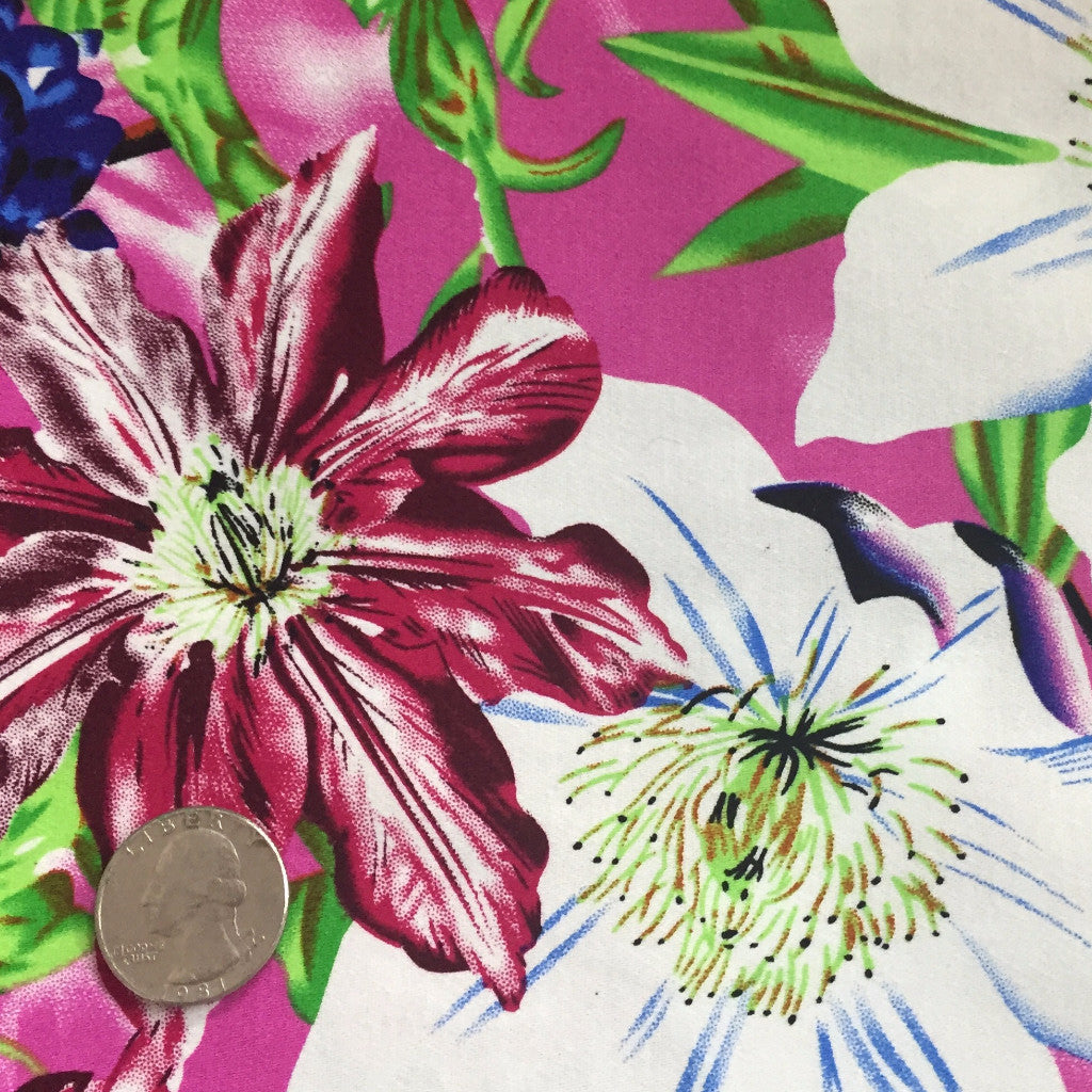 Cotton Floral Stretch Fabric CFS 14 - NY Fashion Center Fabrics