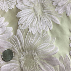 Silk Daisy Brocade Pearl Blush