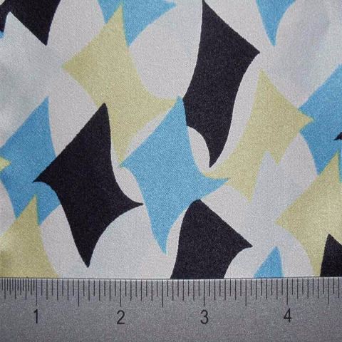 Silk Charmeuse print fabric #1 ESP2000 10684blue