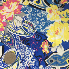 Cotton Floral Stretch Fabric CFS 10 - NY Fashion Center Fabrics