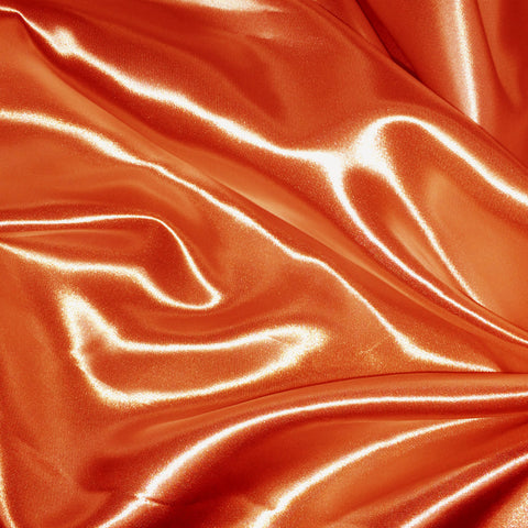 Luster Satin Fabric 34  Orange - NY Fashion Center Fabrics