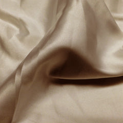 Charmeuse Satin Fabric 12  Taupe - NY Fashion Center Fabrics