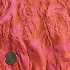 Silk Rose Brocade Coral Pink