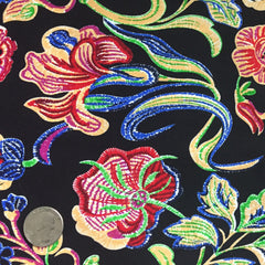 Cotton Floral Stretch Fabric CFS 18 - NY Fashion Center Fabrics