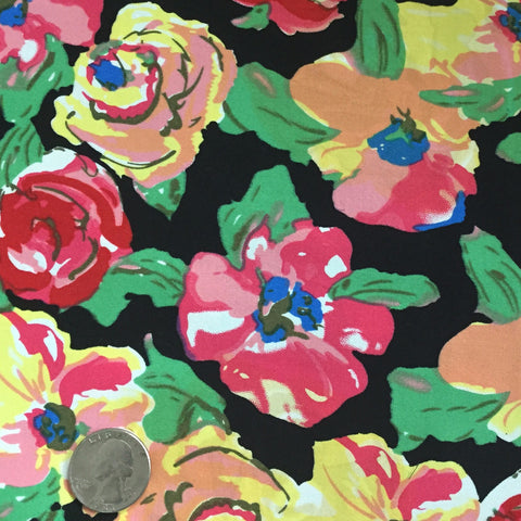 Cotton Floral Stretch Fabric CFS 21 - NY Fashion Center Fabrics