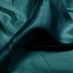 Charmeuse Satin Fabric 37  Teal - NY Fashion Center Fabrics