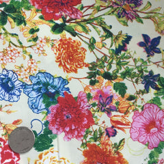 Cotton Floral Stretch Fabric CFS 31 - NY Fashion Center Fabrics