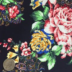 Cotton Floral Stretch Fabric CFS 23 - NY Fashion Center Fabrics