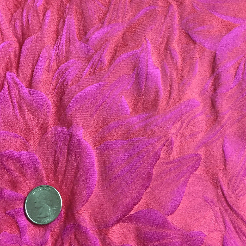 Silk Leaves Brocade Fuchsia