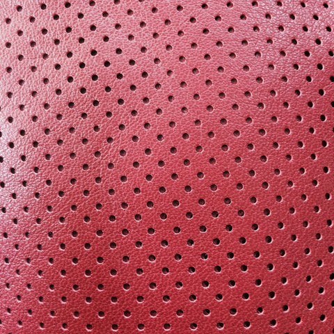 Perforated Lamb Leather Crimson