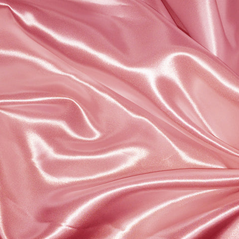 Luster Satin Fabric 15  Rose - NY Fashion Center Fabrics