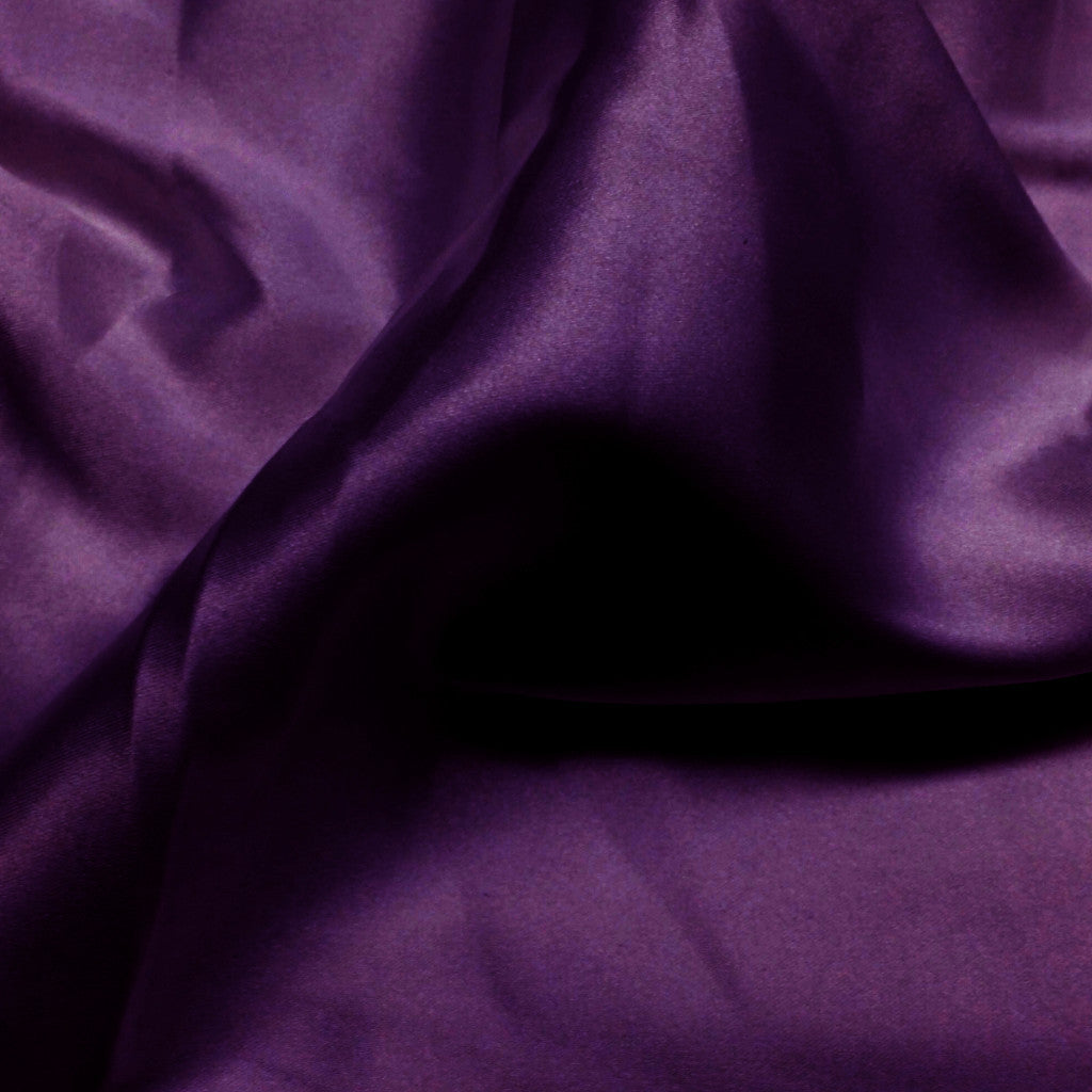 Charmeuse Satin Fabric 30  Plum