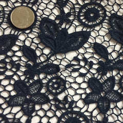 Floral Cotton Lace Navy - NY Fashion Center Fabrics
