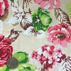 Cotton Floral Stretch Fabric CFS 4 - NY Fashion Center Fabrics