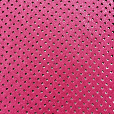 Perforated Lamb Leather Hot Pink