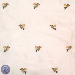 Silk Embroidered Ditsy Floral Shantung #1 01 Light Peach
