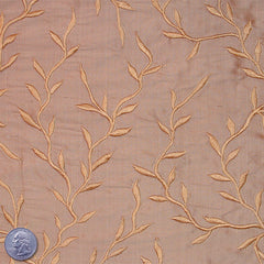 "Silk Embroidered Vines Shantung - 44"" 05 Peru"