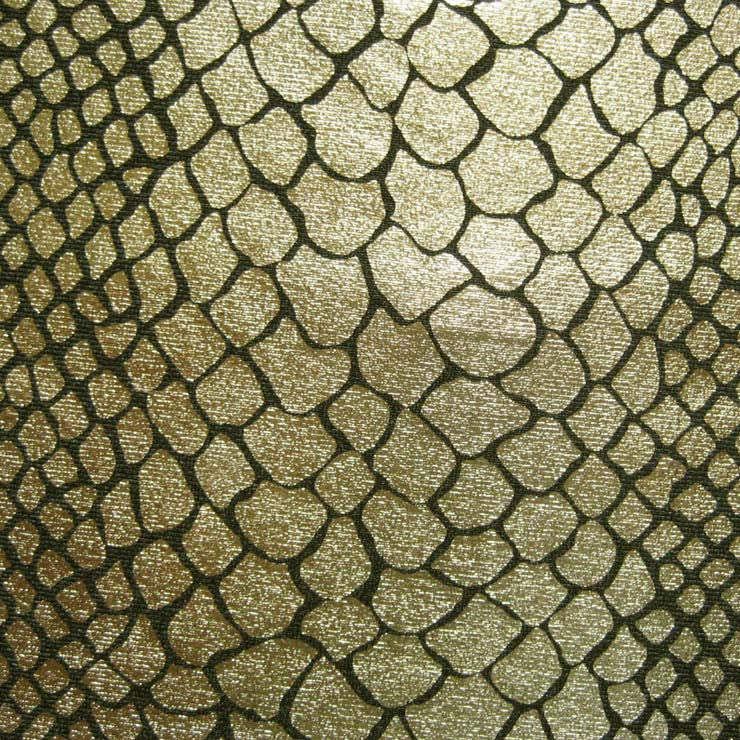 Anaconda Snake Print Spandex 03 Gold - NY Fashion Center Fabrics