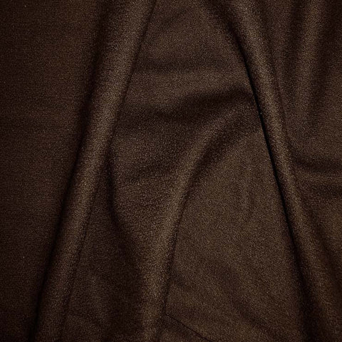 Deluxe Wool Crepe 04 DkBrown - NY Fashion Center Fabrics