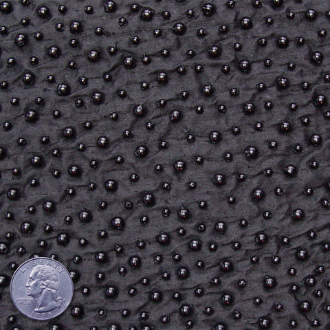 Silk Beaded Pearls Shantung 05 Black