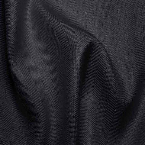 Italian Silk Herringbone 06 RS Navy - NY Fashion Center Fabrics