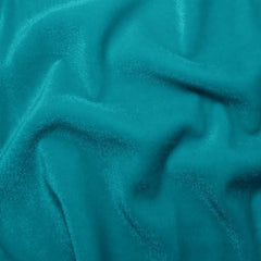 Polyester Stretch Velvet - 15 Yard Minimum 15 Peacock