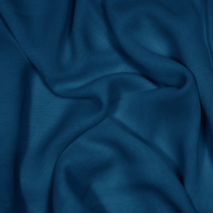 Silk Stretch Chiffon Real Navy