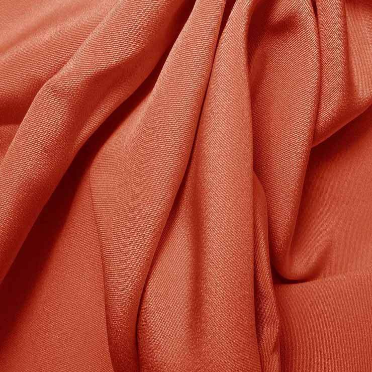 Silk 4 Ply Woven Crepe Coral