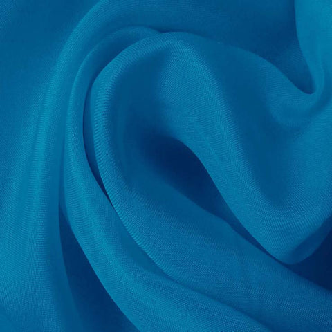 Silk Satin Face Organza Tropical Blue