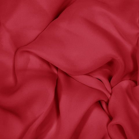 Silk Stretch Georgette Crimson Red