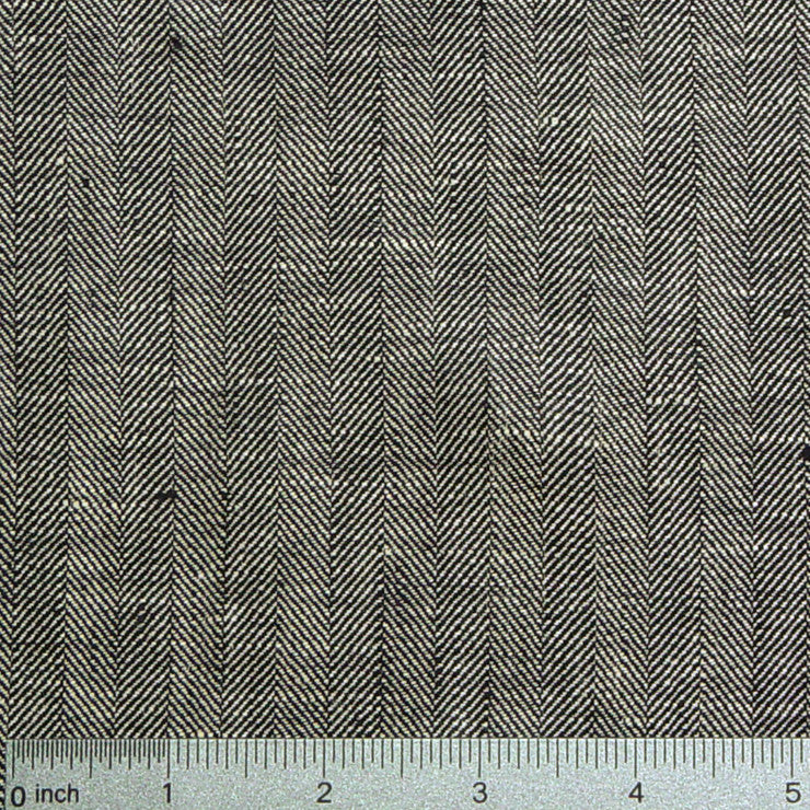 Linen Herringbone 433 Charcoal Gray - NY Fashion Center Fabrics