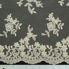 Double Scallop #80325W Champagne - NY Fashion Center Fabrics