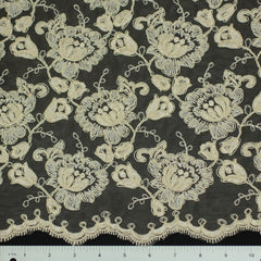 Double Scallop #84052W Champagne - NY Fashion Center Fabrics