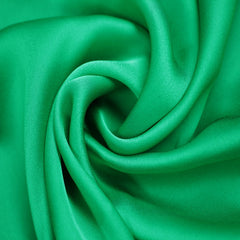 Satin Chiffon Fabric Grass Green