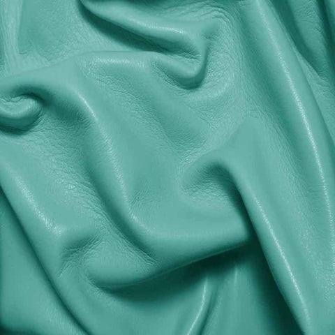 Drum Dyed Lamb Nappa Leather L323 Aqua - NY Fashion Center Fabrics