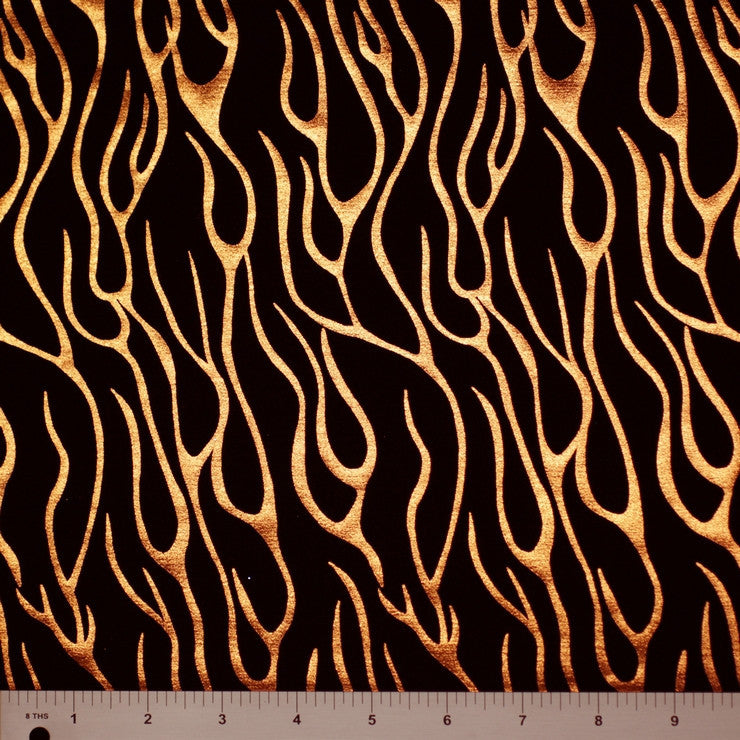 Metallic Flame Printed Spandex Meta 148 - NY Fashion Center Fabrics