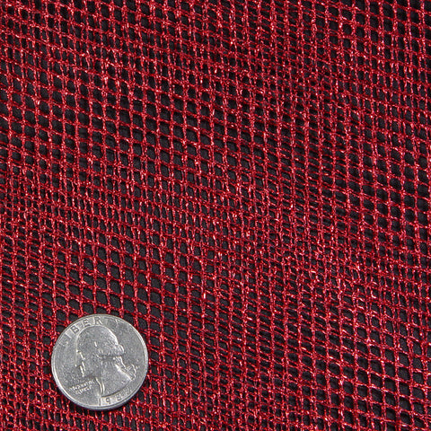 Polyester Metallic Netting Metallic Red