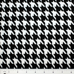 Houndstooth Print Spandex PS 2252 Black on White - NY Fashion Center Fabrics