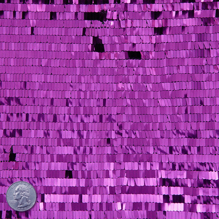 Piano Sequin Mesh Purple