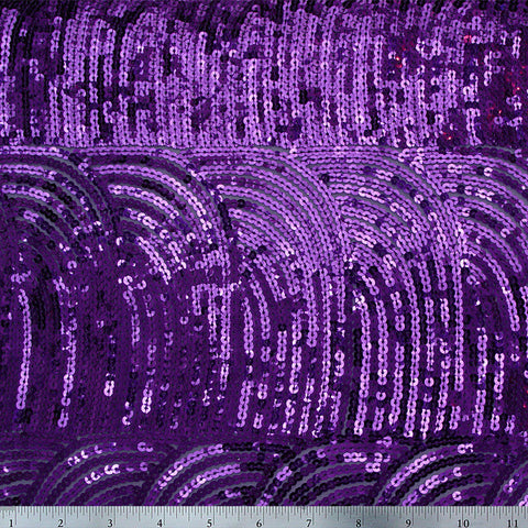 Cascade Sequin Mesh Purple
