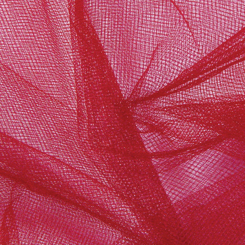 Nylon Tulle - 50 Yard Bolt Red - NY Fashion Center Fabrics
