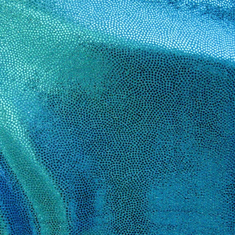 Foil Dotted Spandex 15 Yard Minimum Turquoise - NY Fashion Center Fabrics