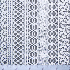 Polyester Venice Lace White