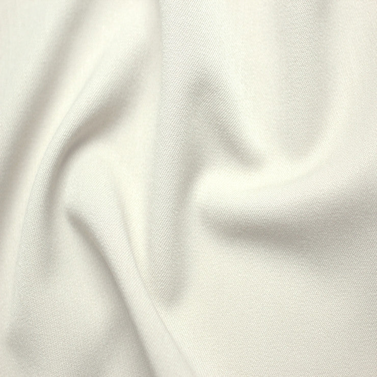 Poly/Rayon Blend Stretch Gabardine - 20 Yard Bolt 00 White