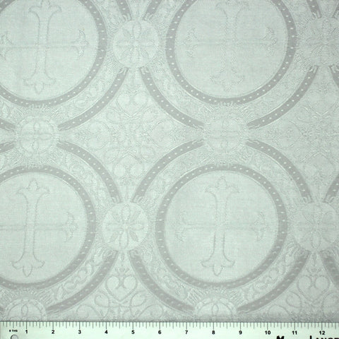 Polyester Tonal Church Brocade 00 White
