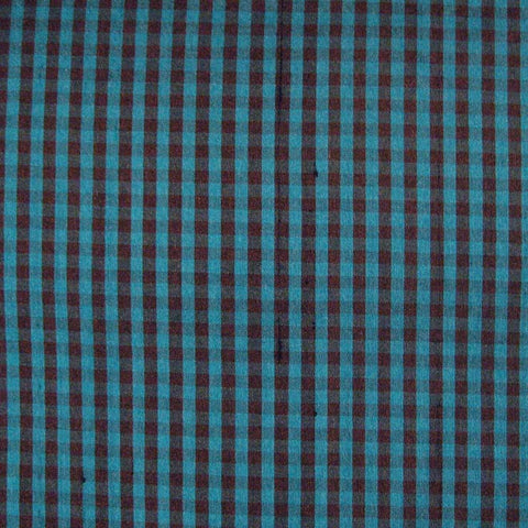 Silk Shantung Stripes and Checks Fabric 01 A