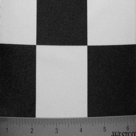 Checkerboard Print Spandex #1 01 Black White